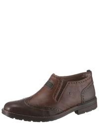 dunkelbraune Brogue Stiefel aus Leder von Rieker