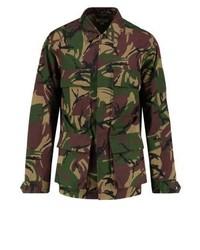 dunkelbraune Camouflage Militärjacke von J.Crew