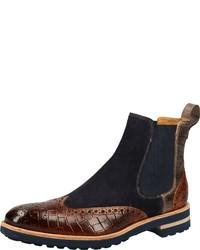 dunkelbraune Chelsea Boots aus Leder von Melvin&Hamilton