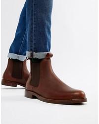 dunkelbraune Chelsea-Stiefel aus Leder von Polo Ralph Lauren