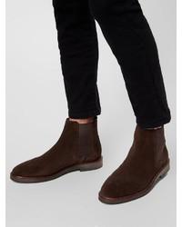 dunkelbraune Chelsea-Stiefel aus Leder von Bianco