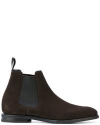 dunkelbraune Chelsea-Stiefel aus Leder von Church's