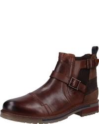 dunkelbraune Chelsea-Stiefel aus Leder von Dockers by Gerli