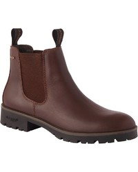 dunkelbraune Chelsea-Stiefel aus Leder von Dubarry