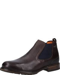 dunkelbraune Chelsea-Stiefel aus Leder von FRETZ men