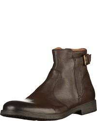 dunkelbraune Chelsea-Stiefel aus Leder von Geox