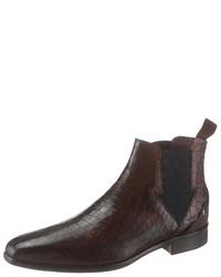 dunkelbraune Chelsea-Stiefel aus Leder von Melvin&Hamilton