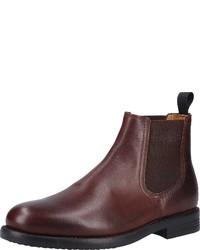dunkelbraune Chelsea-Stiefel aus Leder von Pantofola D'oro