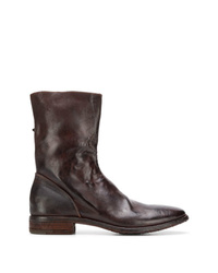 dunkelbraune Chelsea-Stiefel aus Leder von Premiata