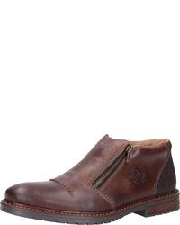 dunkelbraune Chelsea-Stiefel aus Leder von Rieker