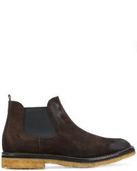 dunkelbraune Chelsea-Stiefel aus Wildleder von Buttero