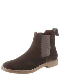 dunkelbraune Chelsea-Stiefel aus Wildleder von Lloyd