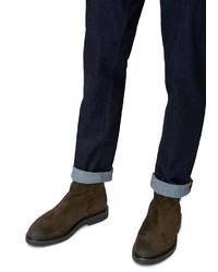 dunkelbraune Chelsea-Stiefel aus Wildleder von Marc O'Polo