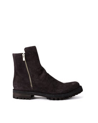 dunkelbraune Chelsea-Stiefel aus Wildleder von Officine Creative