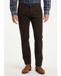 dunkelbraune Chinohose von Pioneer Authentic Jeans