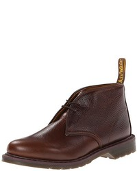 dunkelbraune Chukka-Stiefel aus Leder