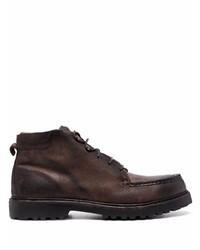 dunkelbraune Chukka-Stiefel aus Leder von Eleventy