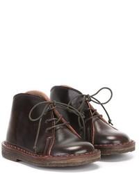 dunkelbraune Chukka-Stiefel aus Leder von Pépé