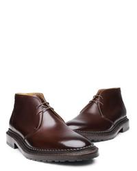 dunkelbraune Chukka-Stiefel aus Leder von SHOEPASSION