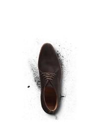 dunkelbraune Chukka-Stiefel aus Wildleder von Heinrich Dinkelacker