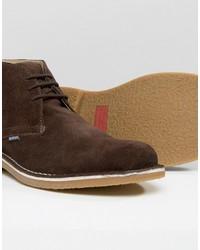 dunkelbraune Chukka-Stiefel aus Wildleder von Lambretta