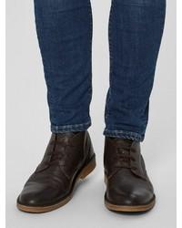 dunkelbraune Chukka-Stiefel aus Wildleder von Selected Homme