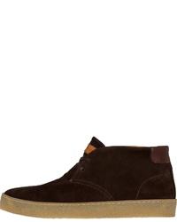 dunkelbraune Chukka-Stiefel aus Wildleder von Tommy Hilfiger