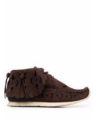 dunkelbraune Chukka-Stiefel aus Wildleder von VISVIM