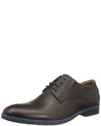 dunkelbraune Derby Schuhe von s.Oliver