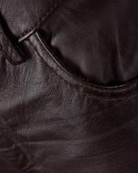 dunkelbraune enge Hose aus Leder von JCC