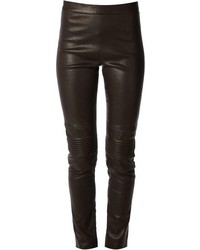dunkelbraune enge Hose aus Leder von Neil Barrett