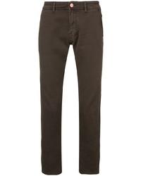 dunkelbraune enge Jeans von Barba