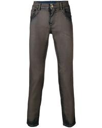 dunkelbraune enge Jeans von Dolce & Gabbana