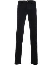 dunkelbraune enge Jeans von Eleventy