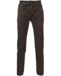 dunkelbraune enge Jeans von Neil Barrett