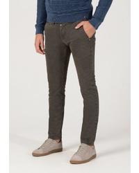 dunkelbraune enge Jeans von Timezone