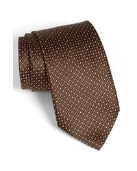 dunkelbraune gepunktete Krawatte