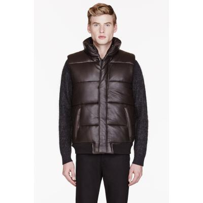 dunkelbraune gesteppte ärmellose Jacke von Marc by Marc Jacobs