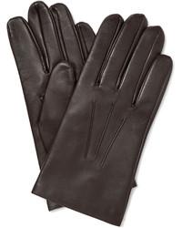dunkelbraune Handschuhe
