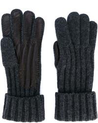 dunkelbraune Handschuhe von Brioni