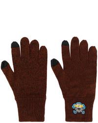dunkelbraune Handschuhe von Kenzo