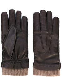 dunkelbraune Handschuhe von Loro Piana