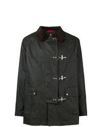 dunkelbraune Jacke mit einer Kentkragen und Knöpfen von Fay