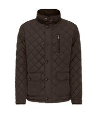 dunkelbraune Jacke mit einer Kentkragen und Knöpfen von Fynch Hatton