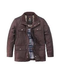 dunkelbraune Jacke mit einer Kentkragen und Knöpfen von REDPOINT