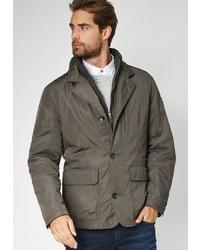 dunkelbraune Jacke mit einer Kentkragen und Knöpfen von S4 JACKETS