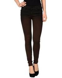 dunkelbraune Jeans