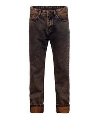 dunkelbraune Jeans von KINGKEROSIN