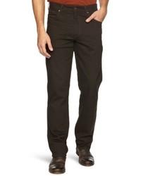 dunkelbraune Jeans von Wrangler