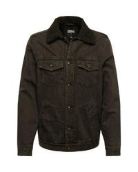 dunkelbraune Jeansjacke von Urban Classics
